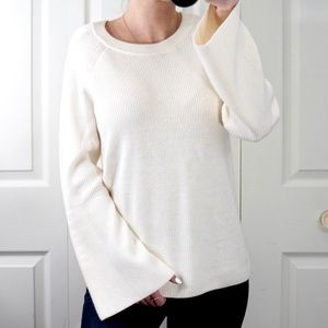NWT! BR Boho Bell Sleeve Crew Neck Knit Sweater XS